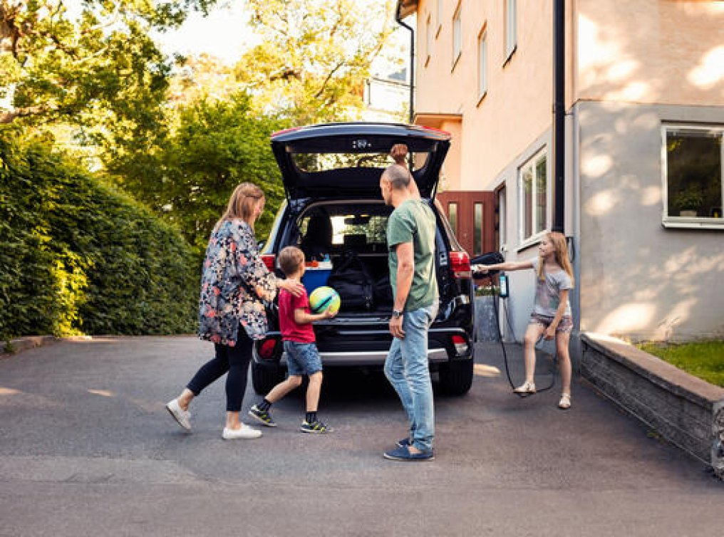 Illustrasjonsfoto: familien skal på tur