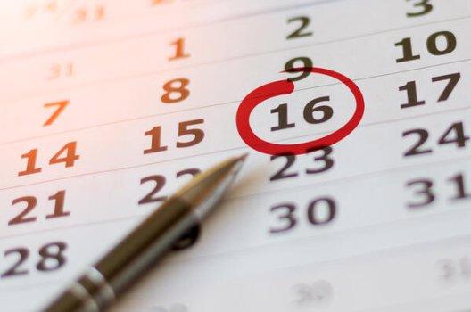 kalenderark med penn