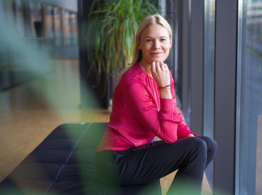 Foto: Karin Greve-Isdahl, Storebrand. Konserndirektør for kommunikasjon, bærekraft og næringspolitikk.