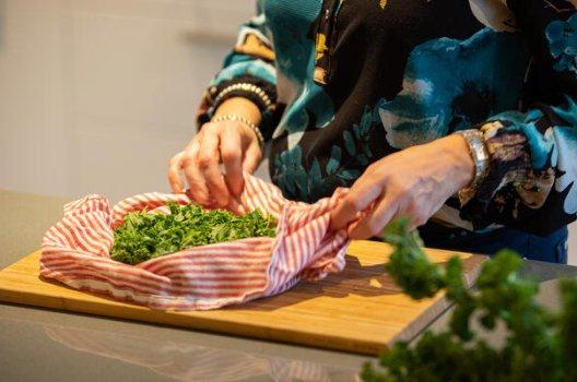 Grønnkål fra Bjørg Mykløy sin kjøkkenhage.
