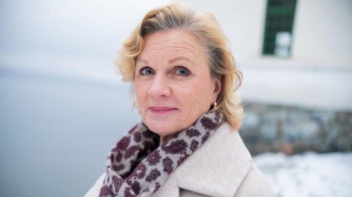 Ingeborg Fintland Skaug, markedskommunikasjonsansvarlig  i Storebrand, en kald januardag i Hvervenbukta i Oslo.