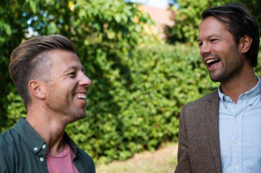Kristian Skalland Moen ler sammen med Øyvind Bendz Strøm